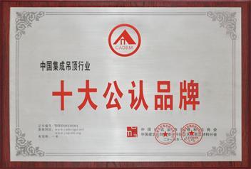 2013中国建筑装饰装修材料协会-十大公认品牌奖牌