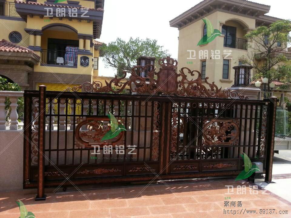 卫朗铝艺-非标定做别墅大门庭院围栏