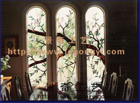 彩色玻璃门窗 教堂玻璃穹顶 彩绘玻璃吊顶