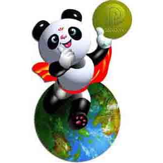 盼盼熊猫矢量图