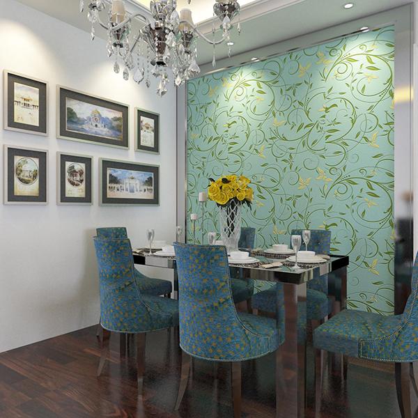 骏辉硅藻泥餐厅背景墙效果图