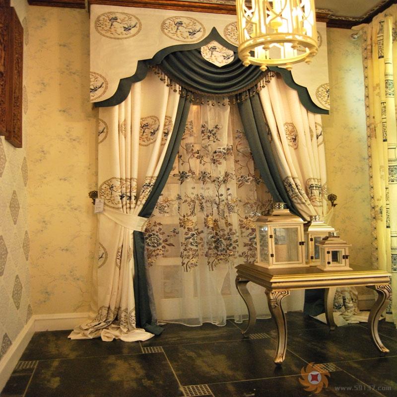中式客厅窗帘安装注意要点,中式客厅窗帘效果图-灯饰