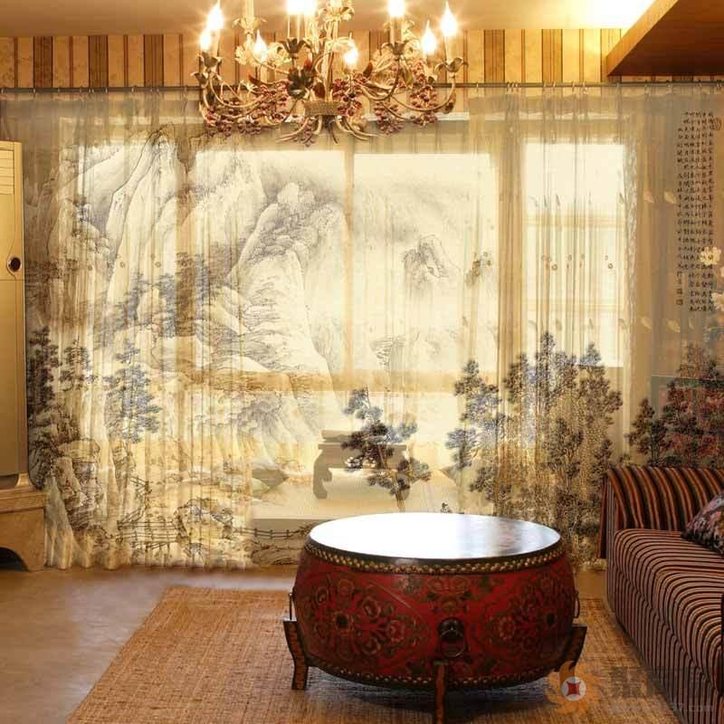 中式客厅窗帘安装注意要点,中式客厅窗帘效果图
