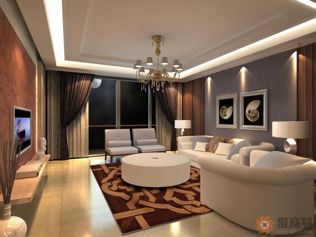 一份好的客厅装修效果图应该包括客厅的背景墙设计