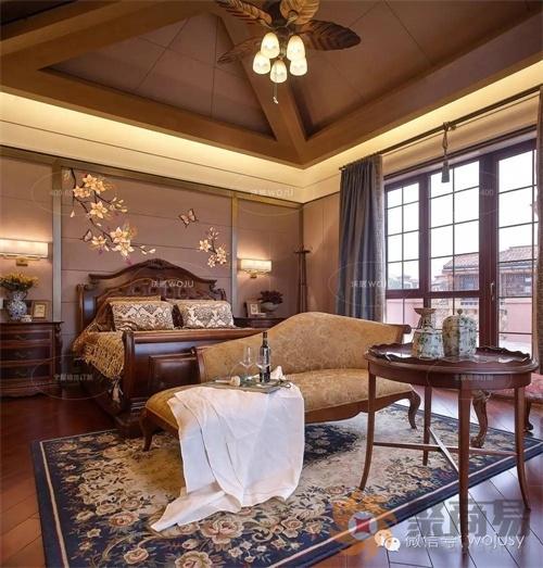 高端刺绣艺术定制呈现--卧室床头背景墙,享受轻奢生活图片